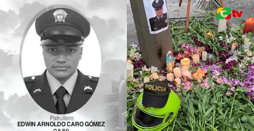 ¡CONMOCIÓN EN COLOMBIA POR EL ASESINATO DEL POLICÍA EDWIN CARO!  😢